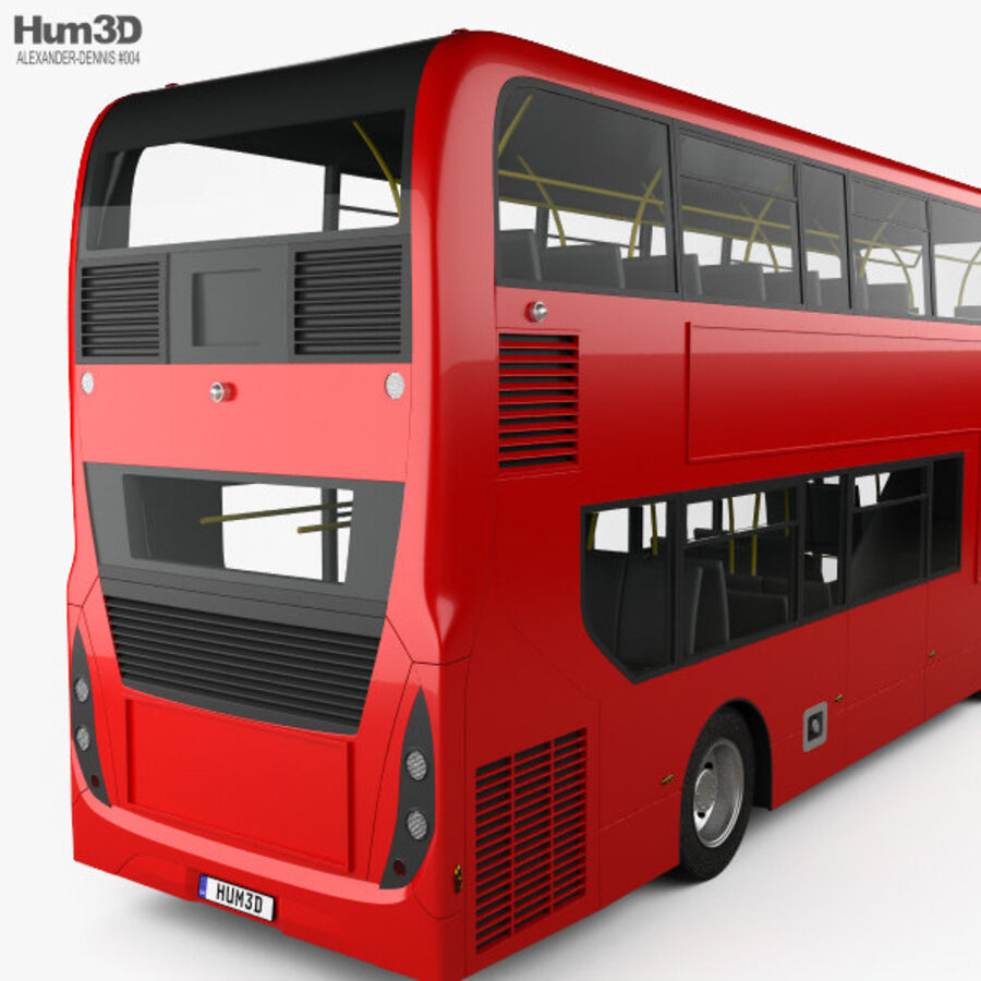 Alexander Dennis Enviro400 Double Decker Bus 2015 royalty-free 3d model - Preview no. 7