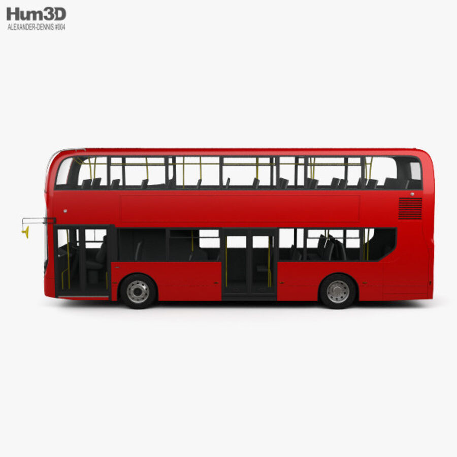 Alexander Dennis Enviro400 Double Decker Bus 2015 royalty-free 3d model - Preview no. 5