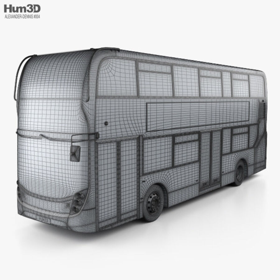 Alexander Dennis Enviro400 Double Decker Bus 2015 royalty-free 3d model - Preview no. 3