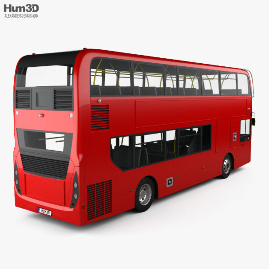 Alexander Dennis Enviro400 Double Decker Bus 2015 royalty-free 3d model - Preview no. 2