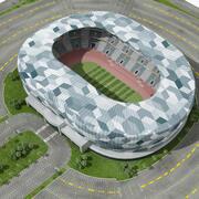 Fußballstadion Hohe Qualität 3d model