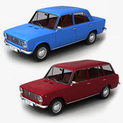 Família Fiat 124 + 124 3d model