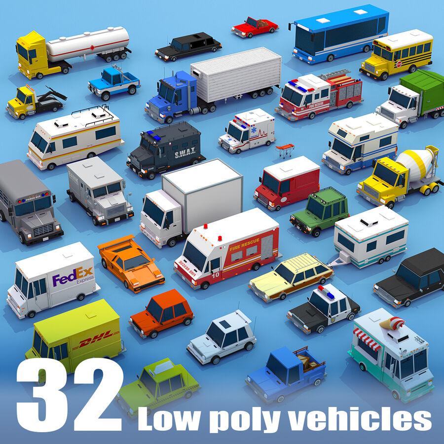 Mega Pack collezione di veicoli royalty-free 3d model - Preview no. 1
