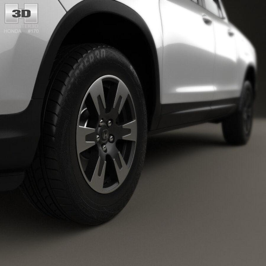 Honda Ridgeline 2017 royalty-free 3d model - Preview no. 8