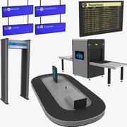 Havaalanı Ekipman toplama 3d model
