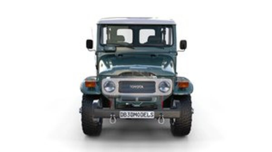 Toyota Land Cruiser FJ 40 with Interior and Chassis royalty-free 3d model - Preview no. 1