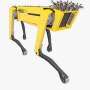 机器人SpotMini黄色发型 3d model