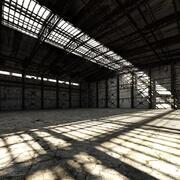 Base Vecchio Hangar Interno 3d model