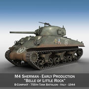 M4 Sherman - Красавица Литл Рок 3d model
