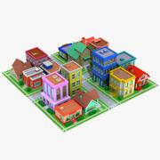 Мультяшный город 3d model