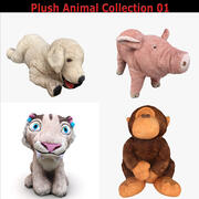 毛绒动物收藏01 3d model