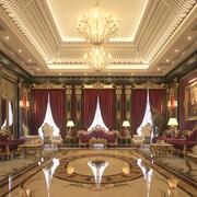 Salón VIP de lujo y vida modelo 3d