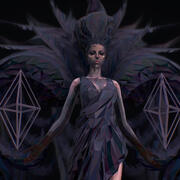 Polygon Art Dark Angel B. Witch Modelo 3d modelo 3d