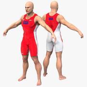 Caractère de l'athlète 3d model