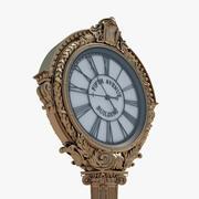 New York Street Clock 3d model