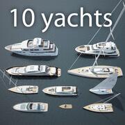 10 jachtów 3d model