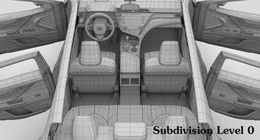 도요타 캠리 SE 2018 royalty-free 3d model - Preview no. 27