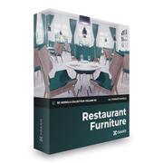 CGAxis 모델 볼륨 99-레스토랑 가구 3d model