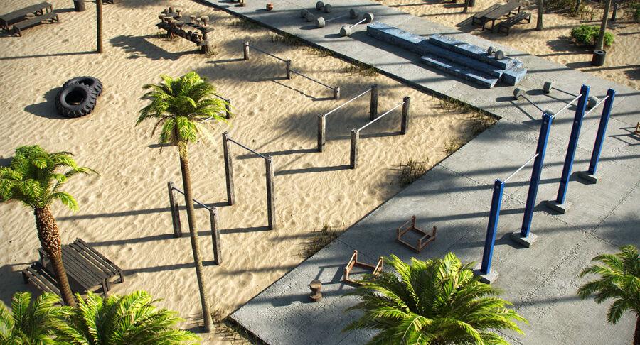 Siłownia do ćwiczeń na plaży royalty-free 3d model - Preview no. 5