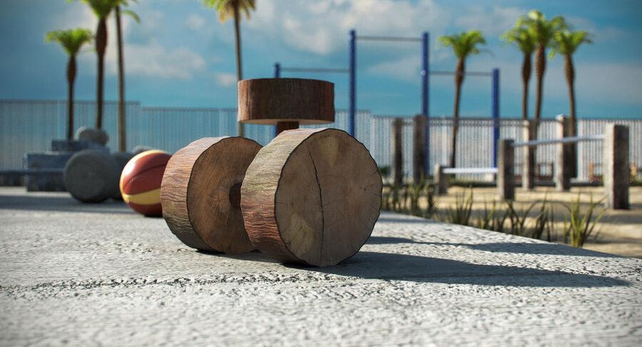 Siłownia do ćwiczeń na plaży royalty-free 3d model - Preview no. 10