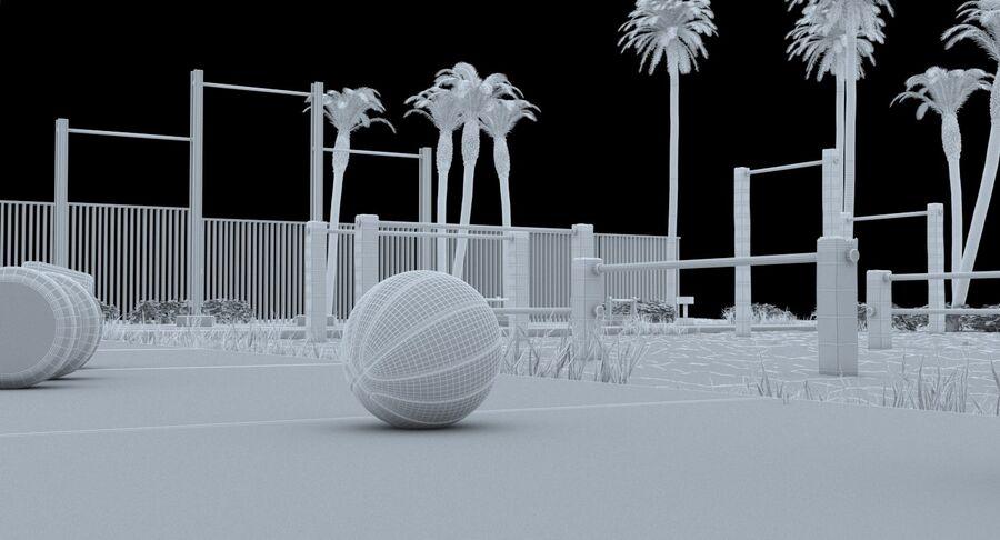 Siłownia do ćwiczeń na plaży royalty-free 3d model - Preview no. 19
