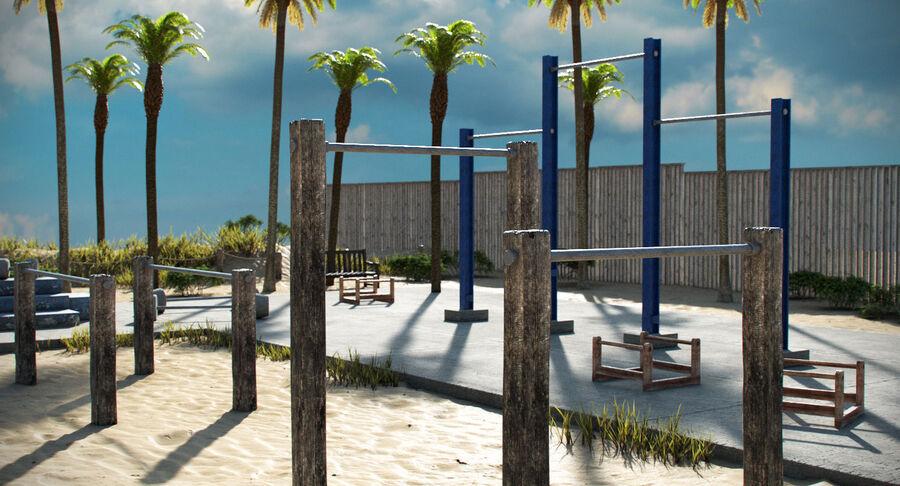 Siłownia do ćwiczeń na plaży royalty-free 3d model - Preview no. 11