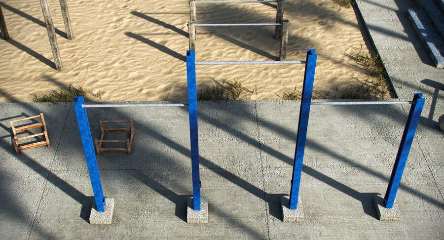 Siłownia do ćwiczeń na plaży royalty-free 3d model - Preview no. 7