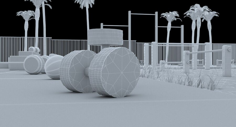 Siłownia do ćwiczeń na plaży royalty-free 3d model - Preview no. 20