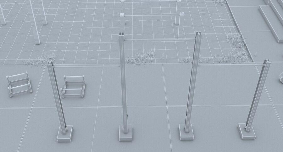 Siłownia do ćwiczeń na plaży royalty-free 3d model - Preview no. 17