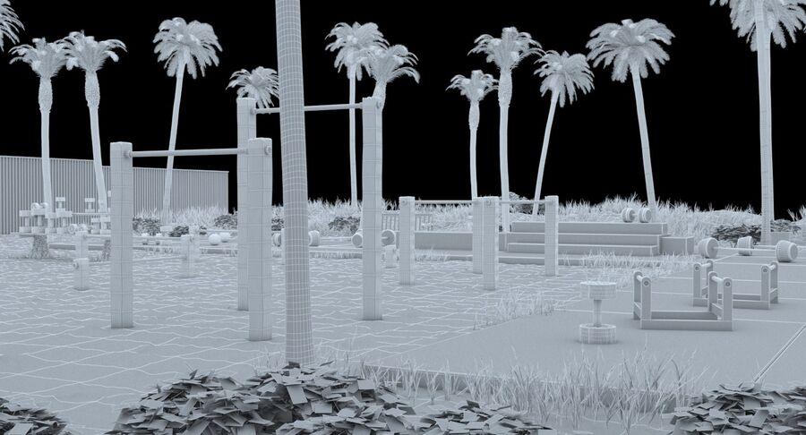 Siłownia do ćwiczeń na plaży royalty-free 3d model - Preview no. 13