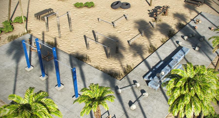 Siłownia do ćwiczeń na plaży royalty-free 3d model - Preview no. 4