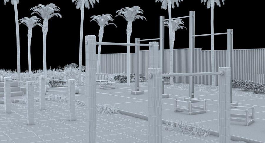 Siłownia do ćwiczeń na plaży royalty-free 3d model - Preview no. 21