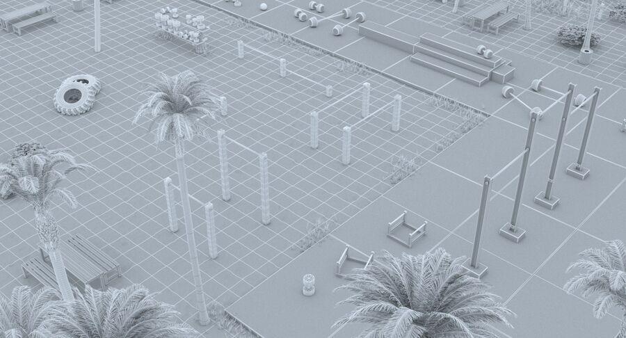 Siłownia do ćwiczeń na plaży royalty-free 3d model - Preview no. 15