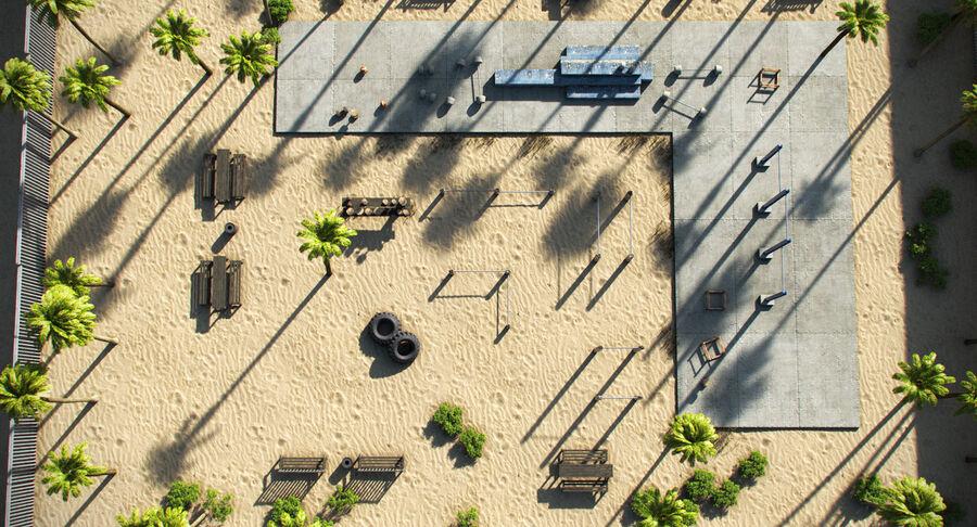 Siłownia do ćwiczeń na plaży royalty-free 3d model - Preview no. 8