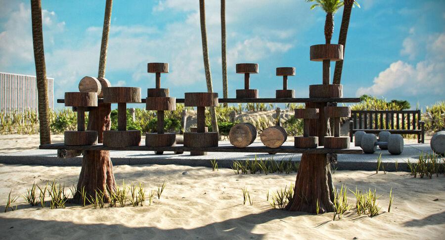 Siłownia do ćwiczeń na plaży royalty-free 3d model - Preview no. 6
