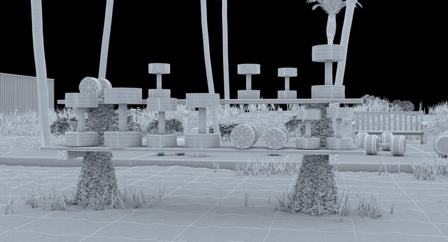 Siłownia do ćwiczeń na plaży royalty-free 3d model - Preview no. 16