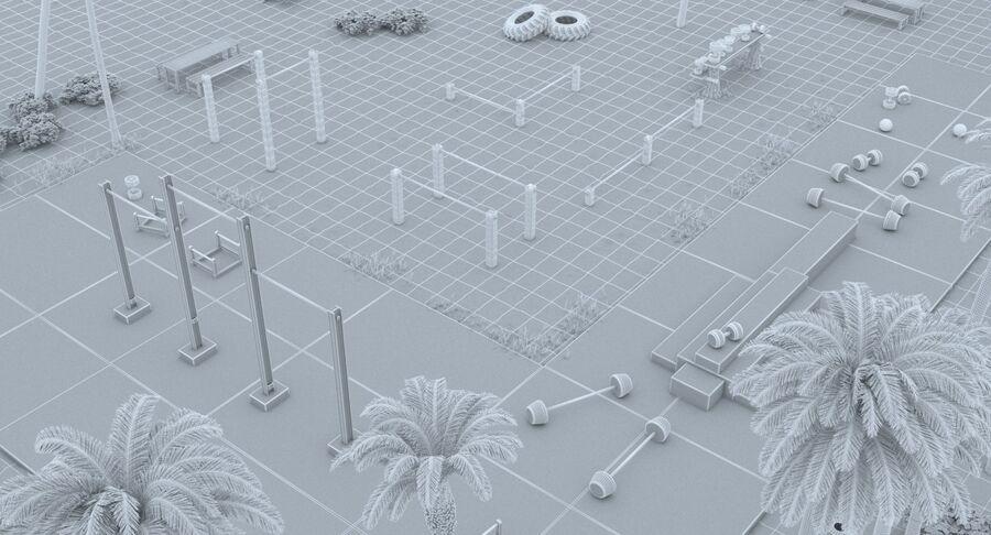 Siłownia do ćwiczeń na plaży royalty-free 3d model - Preview no. 14