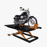 Motorcycle Lift with Bike 3d model