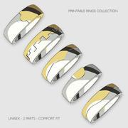 Printable Unisex Rings Bundle Pack 3d model