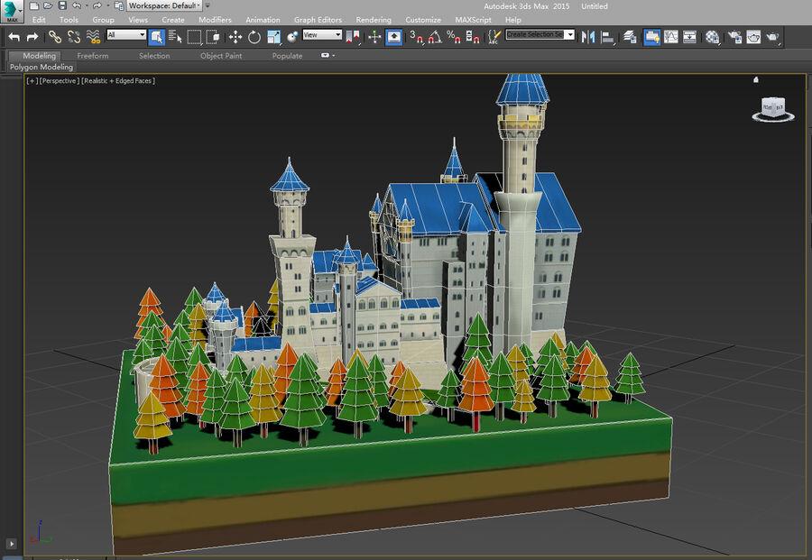 World Architecture neuschwanstein castle royalty-free 3d model - Preview no. 18