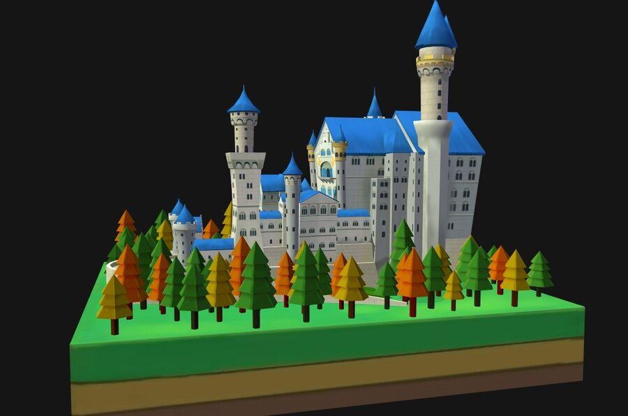 World Architecture neuschwanstein castle royalty-free 3d model - Preview no. 13