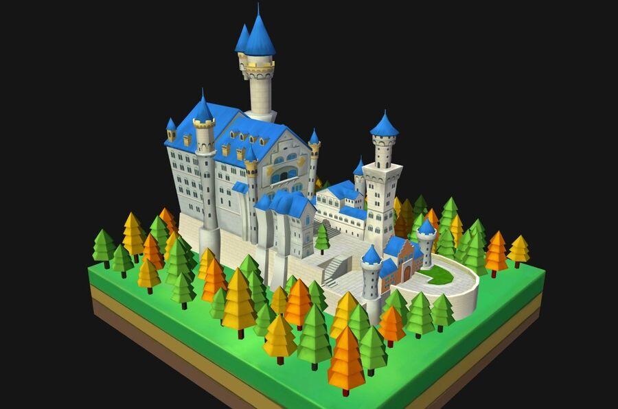 World Architecture neuschwanstein castle royalty-free 3d model - Preview no. 1