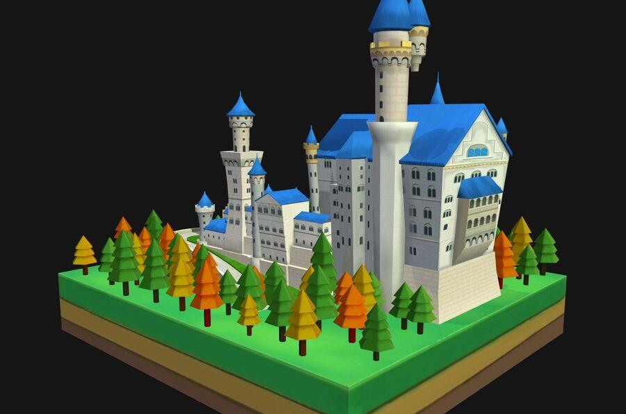 World Architecture neuschwanstein castle royalty-free 3d model - Preview no. 11