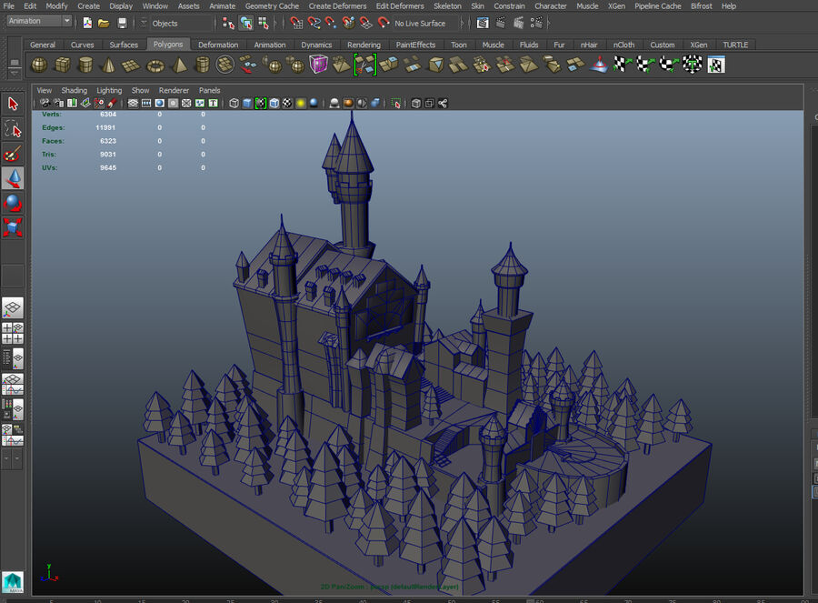 World Architecture neuschwanstein castle royalty-free 3d model - Preview no. 6