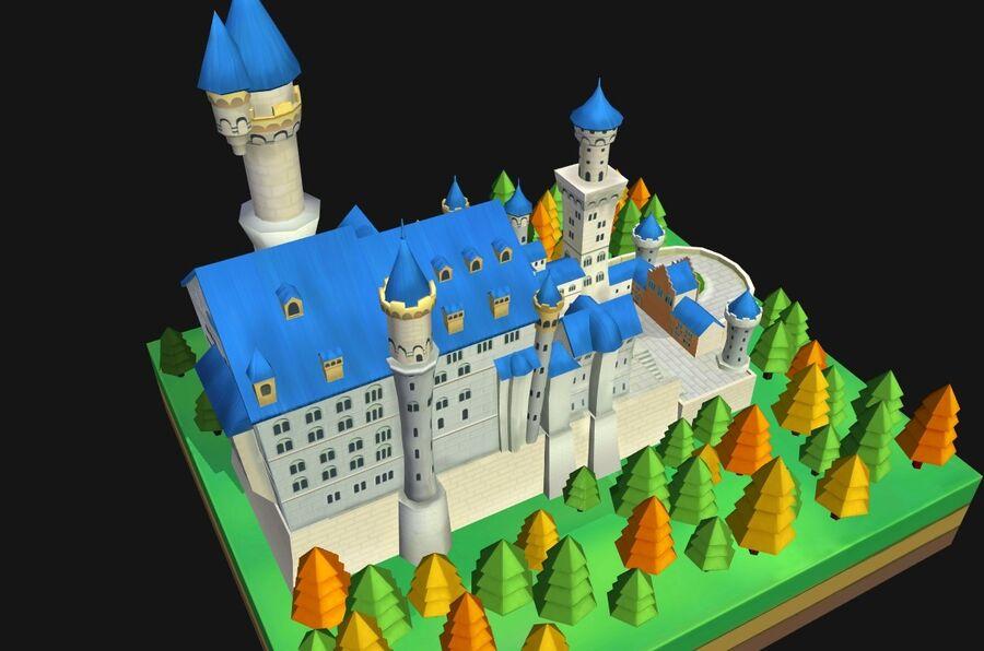 World Architecture neuschwanstein castle royalty-free 3d model - Preview no. 9