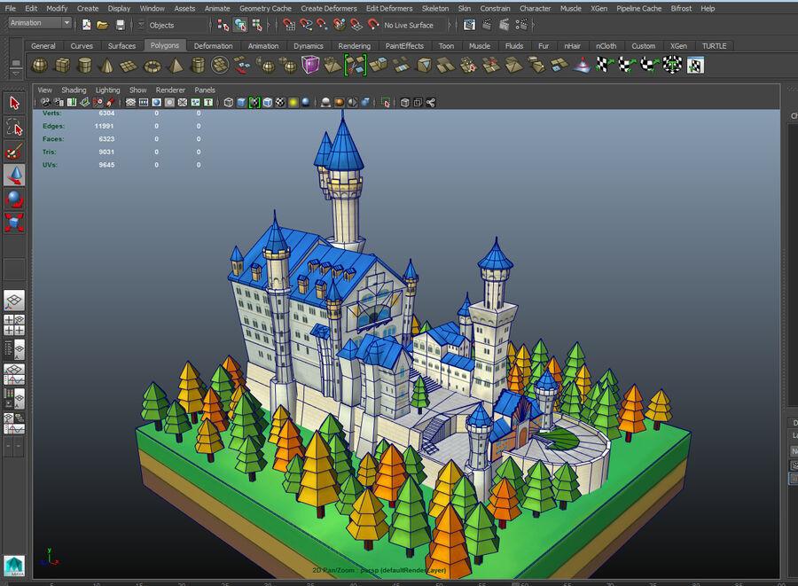World Architecture neuschwanstein castle royalty-free 3d model - Preview no. 7