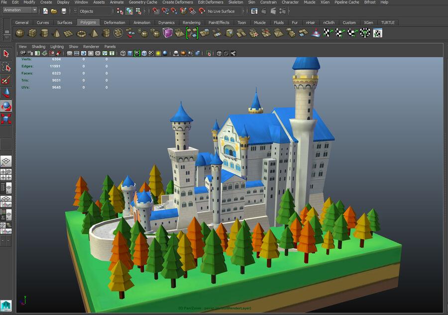 World Architecture neuschwanstein castle royalty-free 3d model - Preview no. 16
