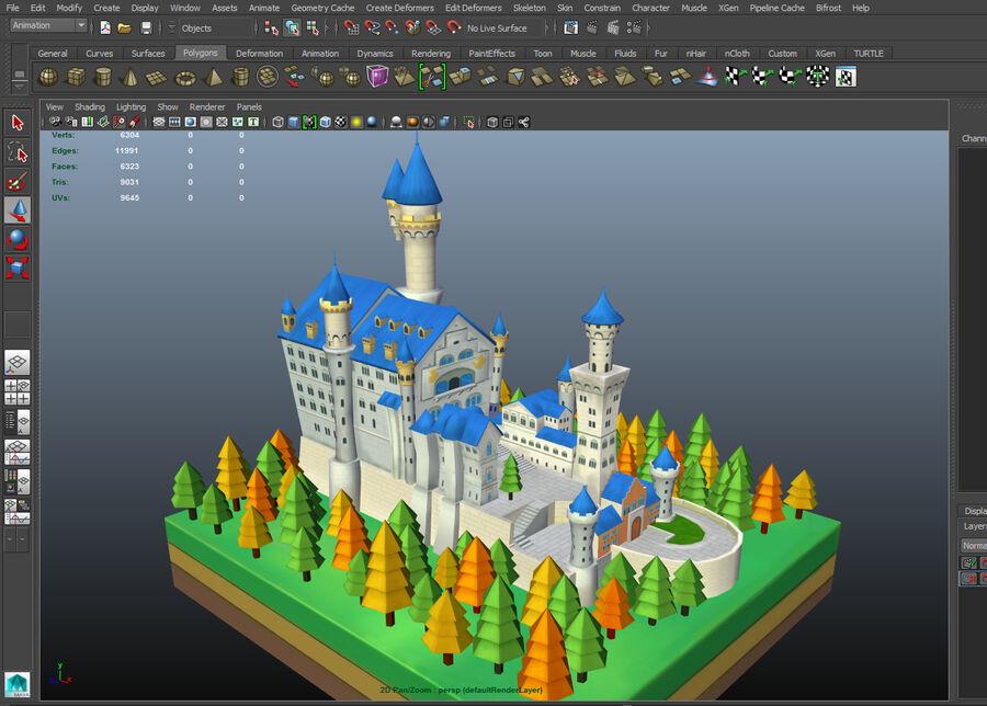 World Architecture neuschwanstein castle royalty-free 3d model - Preview no. 5