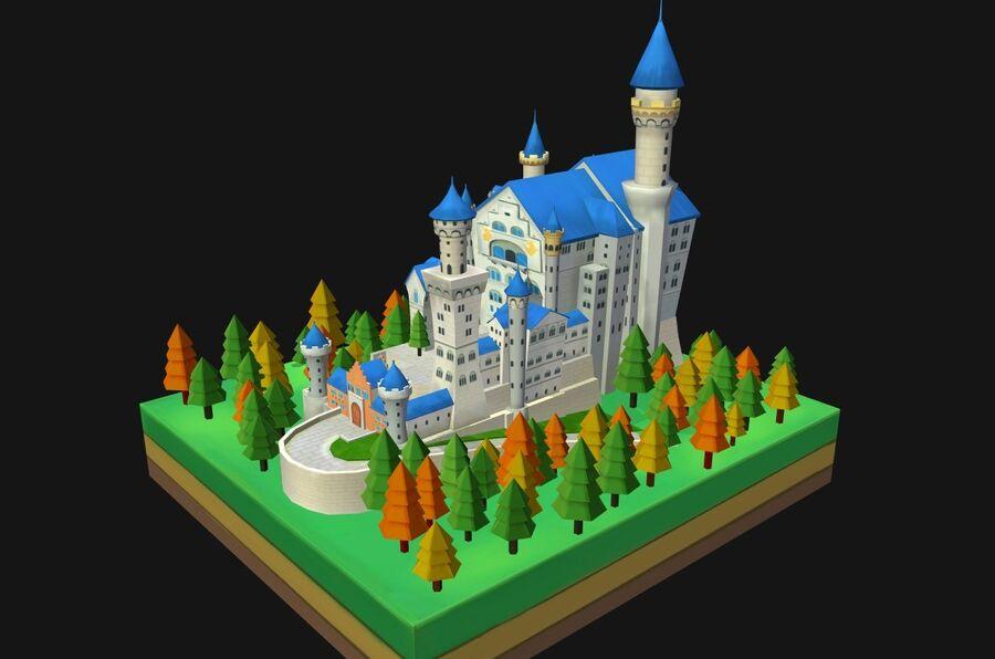 World Architecture neuschwanstein castle royalty-free 3d model - Preview no. 2