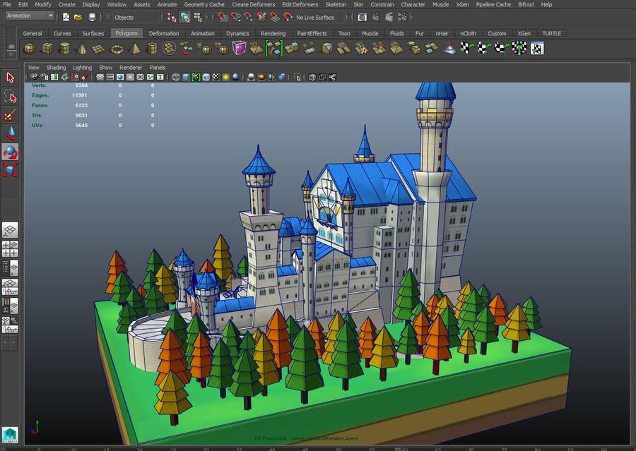 World Architecture neuschwanstein castle royalty-free 3d model - Preview no. 17